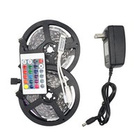 led kontrolörleri toptan satış-RGB LED Şerit Işıklar 5050 5 M 10 M IP20 LED Işık Rgb Leds Bant Led Şerit Esnek Mini IR Denetleyici DC12V Tatil Aydınlatma