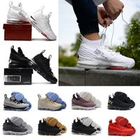 Wholesale rubber dreams - Dream team Men Basketball Shoes New Cavaliers 15 Sports Shoes fashion Black Grey Mens Trainer Comfortable Sneakers New Color outdoor foot