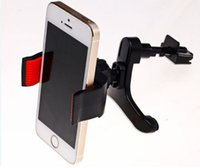 универсальный держатель для универсального телефона оптовых-Новый универсальный автомобильный держатель для мобильного телефона iphone X 8 7 plus 360 градусов гибкий держатель для вентиляционного отверстия