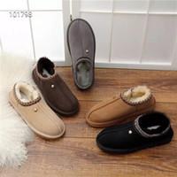 erkek ayakkabıları terlik kış toptan satış-Kalite Ucuz WGG Avustralya TASMAN SLIPPER Çizmeler kadın erkek Klasik kışlık botlar indirim Ayak Bileği kar Botları kış terlik ayakkabı boyutu 35-44