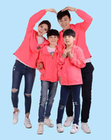 Wholesale yellow top kids clothing resale online - Mens Women Kids Roses Floral Print Jackets Family Clothing Tops Outerwear Thin Coats Jackets Active Casual Slim Windbreaker Plus Size