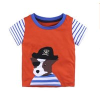 Wholesale T Shirt Cars Baby - Boys Kids Clothing T Shirt Car Dnosaur Cotton Kids Brand Design Cartoon T-shirts Brother Baby Boy Short Sleeve O-neck Top Clothing 8 Styles