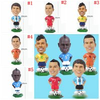 Wholesale souvenirs toys - Soccer Star Lovely Action Figures Toy World Cup Messi Neymar Fans Collection Football Dolls Gift Souvenirs OOA5167