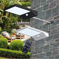 Wholesale LED Solar Powered Light LED LM IP65 Waterproof Motion Sensor Solar Wall Light Garden Lamp with Pole Remote Controller