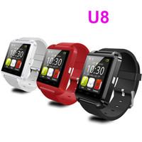 smart phone samsung uhren großhandel-Bluetooth U8 Smartwatch Armbanduhren Touchscreen für iPhone 7 Samsung S8 Android Phone Schlafen Monitor Smart Watch mit Kleinpaket
