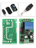 funkfernbedienung schalter empfänger großhandel-433MHz 85V - 250V 1CH Universal Wireless Switch Fernbedienung Wireless Relay Remote Control 2-Tasten-Schalter Empfänger + Sender