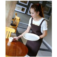 Wholesale aprons for women resale online - NEW Design Heartogether Cooking Apron With Pockets For Women And Men Strap Type Kitchen Apron