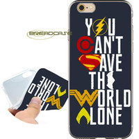 comillas de manzana al por mayor-Coque Superhero Quotes Estuches para iPhone 10 X 7 8 6S 6 Plus 5S 5 SE 5C 4S 4 iPod Touch 6 5 Claro cubierta de silicona suave de TPU.