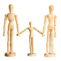 Wholesale mannequin male - Artist Movable Limbs Male Wooden Toy Figure Model Mannequin bjd Art Sketch Draw Action Figures Toy 5.5-8 inch OTH881