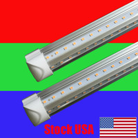 Wholesale fixture fluorescent lighting - 8ft led tube lights V-Shape 8 foot design shop LED lights fixture 2ft 3ft 4ft 5ft 6ft Cooler Door Freezer lighting fluorescent Lamps