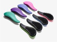 fiyat saç tarağı toptan satış-Düşük fiyat Saç Fırçası Combs Sihirli Dolaşık Açıcı Kolu Arapsaçı Duş Salon Styling Tamer Aracı Profesyonel saç fırçası