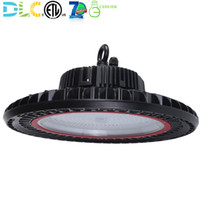Wholesale led warehouse industrial light - New Generation 150w 200w LED UFO High Bay Light Commercial Industrial Warehouse Factory Lighting Shop Lamp Fixture 130LM W 5000K ETL DLC