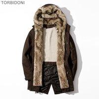 yüksek markalı giyim ceketi toptan satış-Kış Erkekler Polar Ceket Palto Kaşmir Sıcak Kış Kalın Ceket giyim yüksek kalite Erkek üst Marka Giyim Giyim 1.5 kg