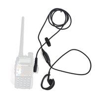 kopfhörer zwei stifte großhandel-2 stücke HYS NA-G05H Tragbare Zweiwegradio Schwarz kopfhörer Bequeme Ohrhörer 2 Pin K Stecker Headset Ohrhörer fürWOUXUN KG-699