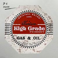 Wholesale High Grade Oil Paints - DL- High grade shabby gas&oil Metal Sign wall sticker, garage,pub,car decor garage wall painting