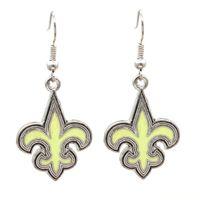 Wholesale christmas earrings for sale - New Design Fashion Metallic Football Team Logo Earrings Europe and America Charm Fashion Jewelry