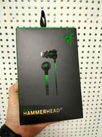 auriculares de juego razer al por mayor-CALIENTE Razer Hammerhead Pro V2 auriculares en auriculares con micrófono con caja al por menor en los auriculares Gaming de oído Envío gratis