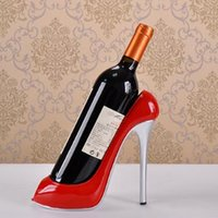 Wholesale High Heel Bottle - High Heel Shoe Wine Bottle Holder Shoes Design Silicone Wine Bottle Holder Rack Shelf for Home Party Restaurant CCA8452 10pcs