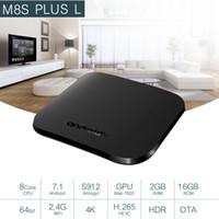 Wholesale m8s plus android tv box online - Original MECOOL M8S PLUS L TV Box Android Amlogic S912 Octa Core GB GB G WiFi Set Top Box K Set top Box