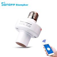 lampes ampoules achat en gros de-Tête Sonoff E27 sans fil ampoules d'éclairage titulaire LED Lampes par IOS Android pour Smart Home prise de courant 220V app minuterie