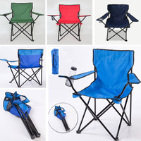 Wholesale multi function chair - Kids Folding Camp Chair With Matching Tote Bag Multi-Function Fold Up Beach Fishing Chairs Outdoor Chair Can Put Cup HH7-1153