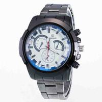 2ac63f3ab2a Nova moda Lazer tira de Aço tipo de Negócio Simples Três olhos seis agulhas  réplicas de Luxo vestido de presente relógio de Quartzo