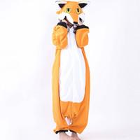 pijamas laranja mulheres venda por atacado-Fleece Nick Fox Onesie Adulto Pijama Dos Desenhos Animados Laranja Lowrie Traje Sleepwear Mulheres Cosplay Inverno Quente Onesies Pijama