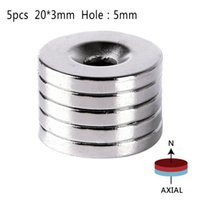neodym-magneten loch 5mm großhandel-10 units / Pack 20mmx3mm Loch 5mm Ring Rare Earth Counterface Starke Neodym-Magnete