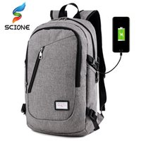 Wholesale backpack for men travel laptop resale online - Hot Multifunction USB charging Men inch Laptop Gym Backpacks For Teenager Fashion Male Travel Outdoor Sports Fitness backpack