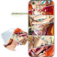 iphone 4s anime kılıfı toptan satış-Coque Anime Goku Gözler Kolaj Uzay Kılıfları iPhone 10X7 8 6S 6 Artı 5S 5 SE 5C 4S 4 iPod Touch 6 5 Şeffaf Yumuşak TPU Silikon Kapak.