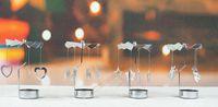porte-lumières thé achat en gros de-Rotation Créatif Chandelier En Acier Inoxydable Bougeoirs Porte Tournante Moulin À Vent Bougeoir Bougie Bougeoir Titulaire De La Maison Partie De Mariage