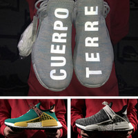 Wholesale Racing Sun - Hu NMD PW Human Race Trail Hiking Shoes - Billionaire Boys Club Nerd BBC Pale Nude Sun Glow Hu Noble Ink Bright Yellow Nmds