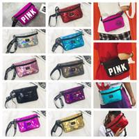 Wholesale hockey belts - Waistpacks Fanny Pack Pink Letter Waist Belt Bag Fashion Beach Travel Bags Waterproof Handbags Purses Outdoor Cosmetic Bag 34 colors