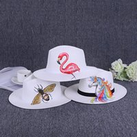 Wholesale hand painting hats for sale - Group buy Women Men Creative Hand painted Formal Cap Luxury Designer Flamingo Unicorn Pineapple Hat New Fashion Style cl ff