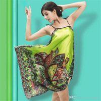2862781f51a pijamas personalizados al por mayor-Pijamas de seda Ropa de verano Ropa  folclórica para mujer