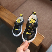 Wholesale baby girls loafers online - 2019 spring autumn ffwhlte new boy white girls sports shoes breathable children s wild shoes sneakers kids loafers baby running shoes