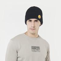 divertidos sombreros de invierno para hombres al por mayor-Nueva lana sombrero otoño e invierno mujeres hombres coreano cara graciosa sombrero de punto engrosamiento al aire libre más cabeza de terciopelo