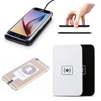 transmissor de carga qi venda por atacado-Qi padrão sem fio carregador de carga transmissor pad para samsung galaxy s6 s7 s8 s9 para iphone 7 8x android phone