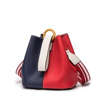 Discount multi color crosses - High Quality Brand Women Fashion Crossbody Tied Bucket Bucket Handbag Personality Fashion Multi-color Diagonal Cross Bag Shoulder Bag
