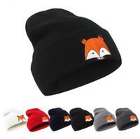bf00dd59975 Adult Fox Soft Knitted Winter Warm Hat Beanie Cap Skull Caps Winter Knit  Slouchy Crochet Hats Fashion Outdoor Hats KKA3941