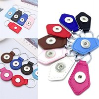 Wholesale Leather Keyrings For Car Keys - Newest PU Leather Keychains Fit 18MM Noosa Snaps Jewelry Keyring For Unisex Multi Style Key Buckle 2 2js Y
