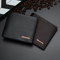 Wholesale beige bow clutch - Wholesale- Padieoe Genuine Men's Leather Wallet Fashion Mens Slim Short Purses Luxury Brand Male Clutch Wallets Business Man's Card Holder