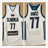 Wholesale Autumn Color Names - Luka Doncic vintage men's White BASKETBALL JERSEY Embroidery Stitches Customize any size and name