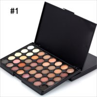 Wholesale Add Long - New 40-color eye shadow makeup matte pearl beauty eye shadow plate can be added with eye shadow brush E40