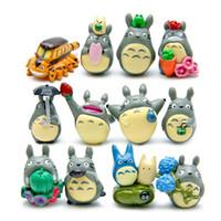 ingrosso figurine totoro-12pcs Totoro Decoration Ornament Movies Micro Landscape Manufatti per l'arredamento Figurine Meaty Plant Landscaping Dolls Action Figures 1 2lz WW
