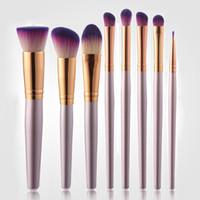 Wholesale purple kabuki brush resale online - Top selling Makeup Brushes Premium Synthetic Kabuki Makeup Brush Set Kit Cosmetics Make up Foundation Blending Blush Powder Face Brush