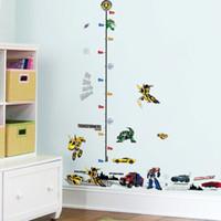 duvar için yükseklik çizelgeleri toptan satış-% Çocuklar Yükseklik Grafik Duvar Sticker ev Dekor 3D Karikatür araba Transformers Süpürgelik çocuk odası yatak odası Çıkartmaları Art Sticker duvar kağıdı