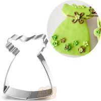 цветок плесень металл оптовых-10шт детская юбка металл печенья цветок платье помадной торт декор печенье плесень кондитерские кондитерские инструменты
