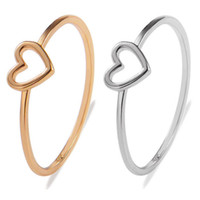 Wholesale love midi ring resale online - High Quality Gold Color Heart Love Shape Charm Ring Feminino Midi Toe Bague Friendship Eternal Forever Best Gift