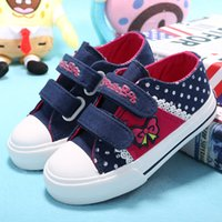 Wholesale purple dance shoes - 2018 Spring and Autumn Vintage Style Children pu Leather Shoes Kids Girls Single Flat Shoes Dance Shoes Girls Sneakers
